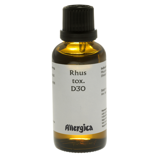 rhus toxicodendron d30 dosering